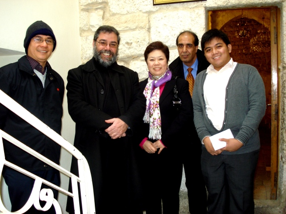 with the Aramaic priest