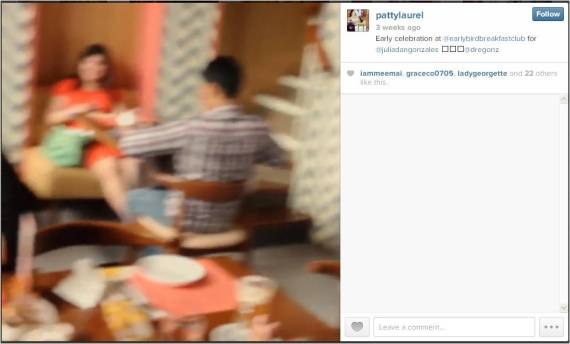 Mika and Paul on a blurred screenshot from Patty Laurel-Filart's video, uploaded on Instagram =))