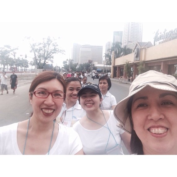 our parish's volunteers, on the way to Roxas Boulevard-Quirino