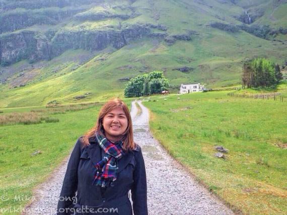 I wore it at Glencoe (the Scottish Highlands)...