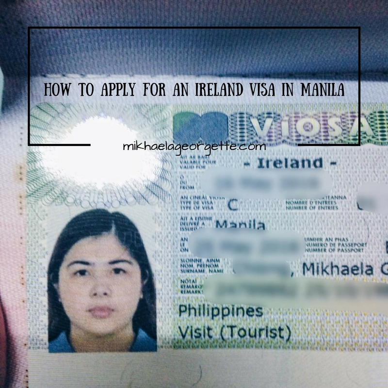 How To Apply For A  Tourist  Visa For Ireland U2026 If You U2019re In Manila