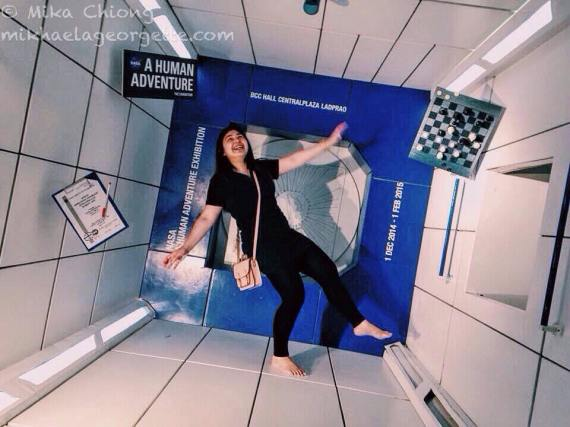 enjoying the NASA exhibit in CentralWorld mall